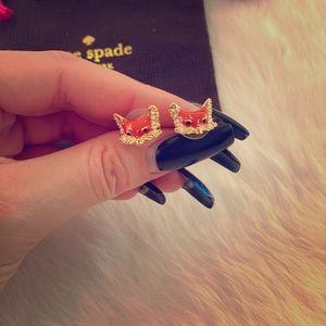 Kate Spade fox earrings